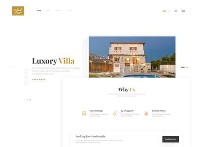 House Rental Landing Page modern typography slider minimal design web realstate ui ux