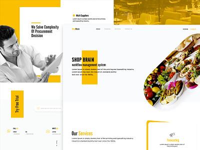 Shop Brain Landing Page landing webapp web user interface user experience ui ux