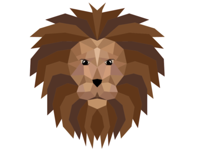Geometric Lion geometric lion geometric art graphic geometric lion