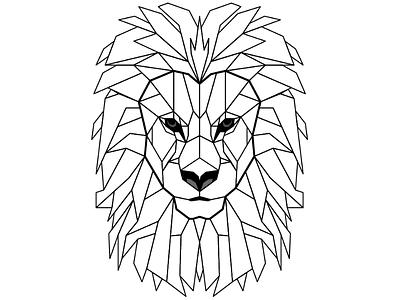 Lion geometric design geometric lion graphic geometric lion