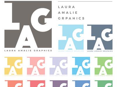 NEW LOGO for Laura Amalie Graphics new logo graphic design logo design freelancer lauraamaliegraphics lag graphic design logo