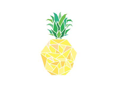 Piña - Pineapple - Ananas summer illustrator design geometric pineapple