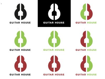 Guitar House new logo graphic design logo design freelancer lauraamaliegraphics lag graphic design logo