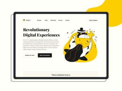 Week 24 - Design Agency Branding Concept (Desktop)