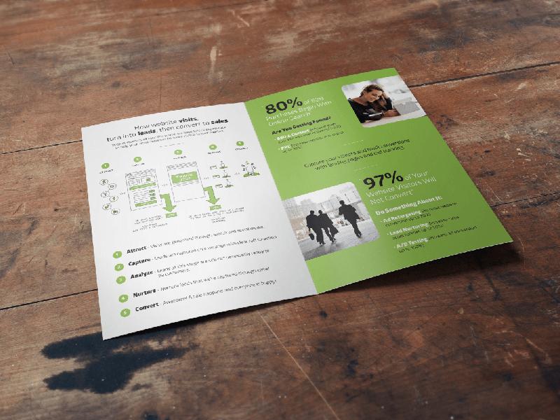 Pear Analytics Bi-Fold Inside pear analytics bi-fold brochure print design