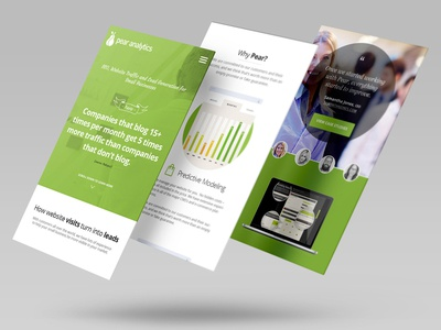 Pear Analytics Website Mobile Design