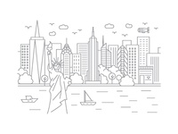 New York, New York - Client City Series Illustration