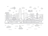 Washington, D.C. - Client City Series Illustration
