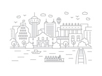 San Antonio, Texas - Client City Series Illustration
