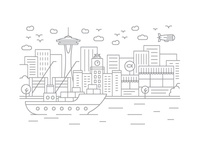 Seattle, Washington - Client City Series Illustration