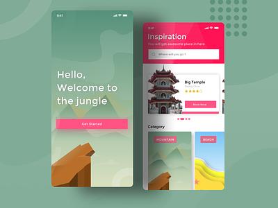 Travelin - Travel Apps travel app travel traveling illustration design dailyui blue clean ui ui app clean
