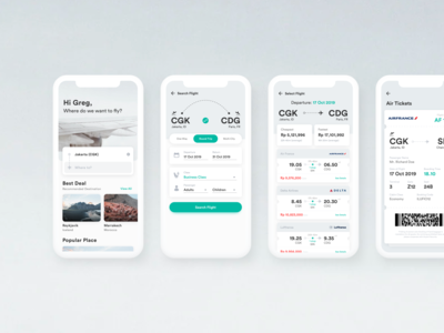 Flight Booking Concept - Mobile