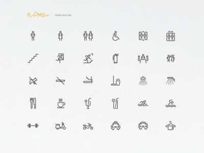 Rooms Inc. — Hotel Icon Set