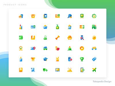 Tokopedia — Product Icons vector ui design pictogram minimalist interface ui illustration iconset icons iconography branding designer branding design