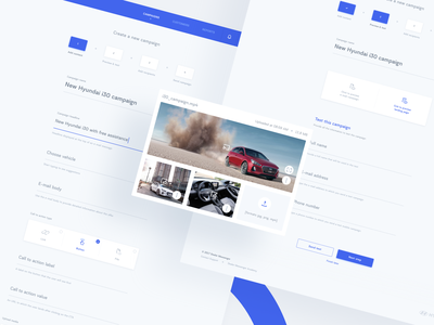 Dealer Messenger - New Campaign agency team minimalistic clean automotive blue icons visual ux ui web design typography print mobile illustration branding animation product design