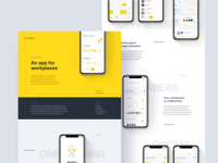 World of Working - Case Study modern mobile ui case study yellow ios ux clean ui product design