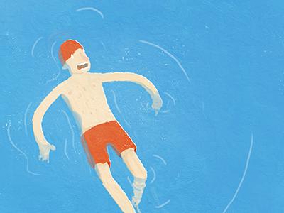 Swim swim illustration water
