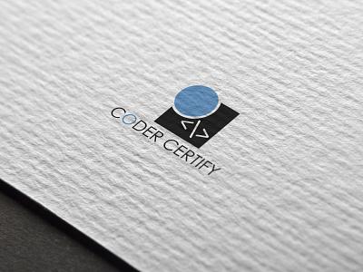 Logo Coder Certify flat branding vector design logo