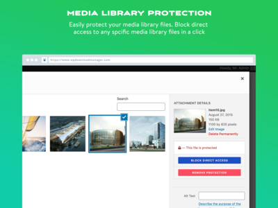 Media Library Protection - WordPress Doownload Manager
