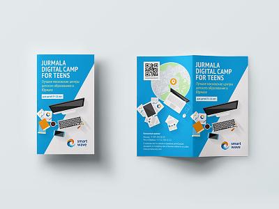 Jurmala Digital Camp brochure printdesign print booklet flyer