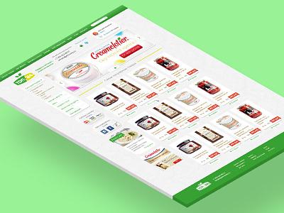 E-commers website website web skeumorphism ui delicates shop food e-commers