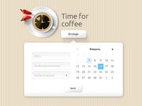 Coffee UX/UI calender