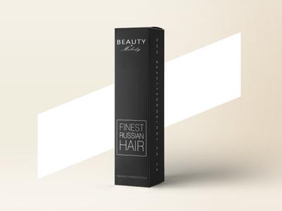 Russian Hair Package design graphic barbershop black fashen haur packaging package