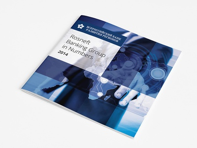 Booklet for Bank preprint blue print russian finance infographic booktet bank