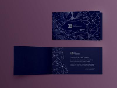 Gift card concept design geometric matte varnishing gloss preprint metallic pantone postcard giftcard card print