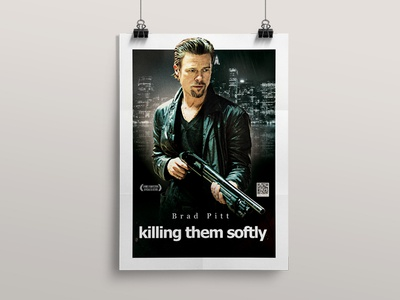 Killing Theme Softly Movie Poster dvd mafia gangsters brad pitt film movie poster