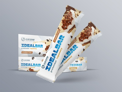 Ideal Bar Sport Nutrition Design snack sweets nutrition sport design packaging bar chocolate protein bar