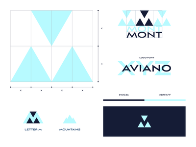 MONT growth digital geometric geometry triangles triangle mountains mount mont logo identity design visual design visual identity logo design branding brand identity identity branding brand design grid concept