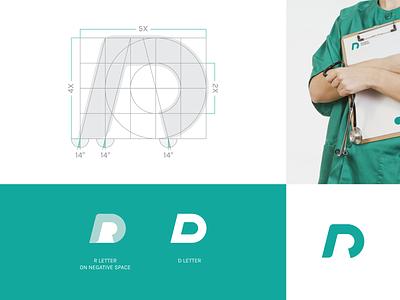 RD Monogram for Surgeon Studio dr surgeon concept grid design logo monoram rd