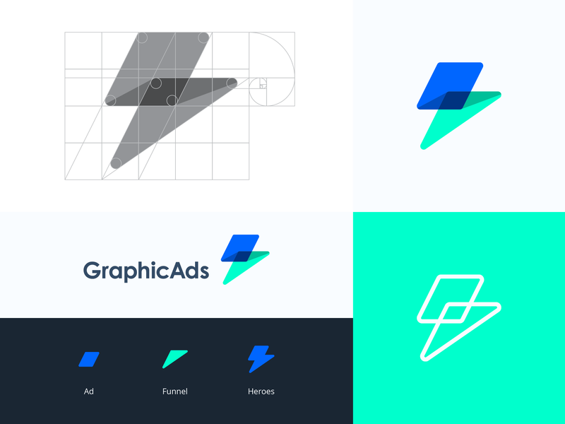 GraphicAds - Logo Design conversion speed digital palette digital logo logo design logo funnel digital bolt lighting bolt