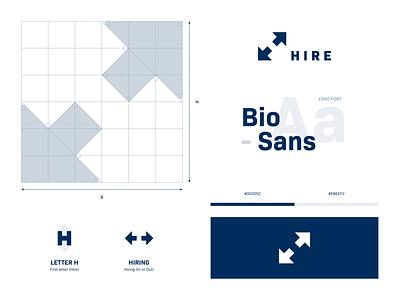 Hire hire arrows negative space h logo concept grid brand design identity branding brand identity branding logo design visual identity visual design identitydesign logo