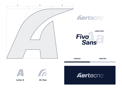 Aertecno a logo air flow air conditioning air treatment air logo identity design visual design visual identity logo design branding brand identity identity branding brand design grid concept