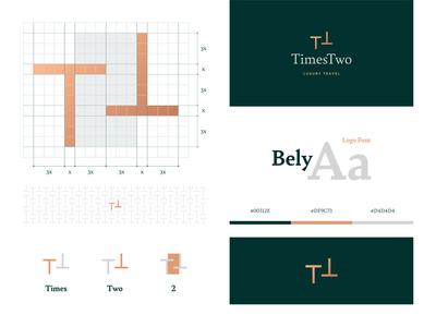 Times Two luxury brand luxury logo two times guide local expert travel luxury logo identity design visual design visual identity logo design branding brand identity identity branding brand design grid concept