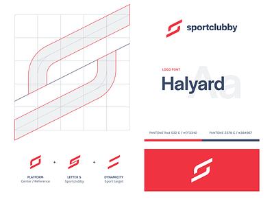 Sportclubby dynamism sportclubby dynamicity dynamic s platform app sports sport logo identity design visual design visual identity logo design branding brand identity identity branding brand design grid concept