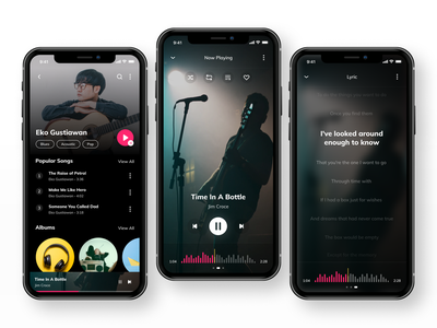 Music App album singer sing musician karaoke uiux ui lyric song lyrics song player music app music player music