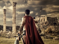 300 movie poster for Viasat