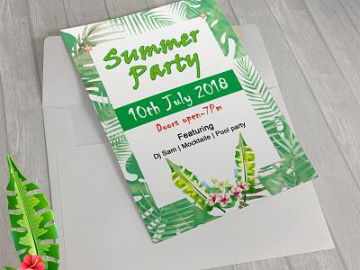 Summer Party flyer occasion season card summer invitation invitation summer poster party party flyer summer flyer summer flyer
