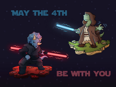 May the 4th be with you! funart fanart force may 4th use the force lukas sith jedy dino dinosaur may the force be with you may the 4th star wars