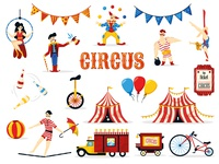 Vintage circus illustration