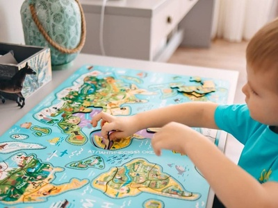 My work in real Life! character vector design puzzle world map kids photo board game illustration