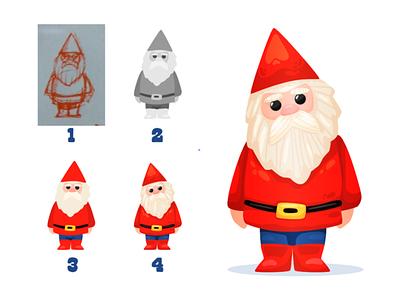 Garden Gnome Simple Tutorial flat tutorials lesson garden gnome vector wip tutorial design character illustrator illustration character design