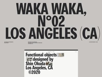 Waka Waka N°02, Case Study home hero gif website motion grid portfolio ui design typography