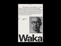 Waka Waka, About Page motion grid ui typography design product website furniture chair about