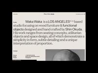 Waka Waka, Menu motion grid portfolio ui design typography website chair furniture menu