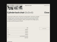 Waka Waka, Product Details ecommerce chair product design typography