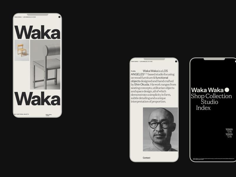 Waka Waka, Mobile mobile website motion grid ui portfolio design typography